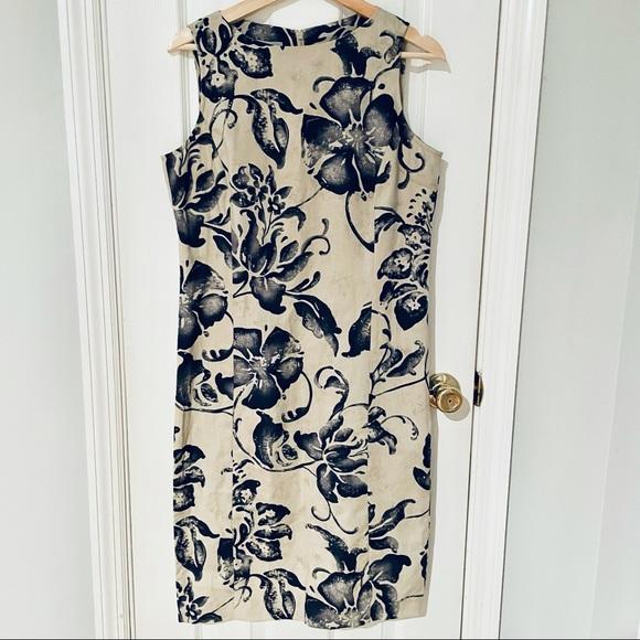 🔴Liz Claiborne 100% Linen Sleeveless Dress